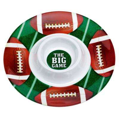 13 in. x 2 in. Football Chip and Dip Tray