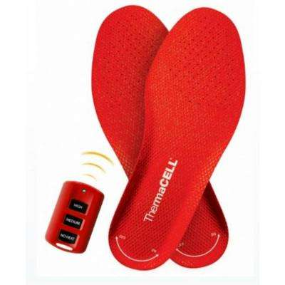 Unisex Red Rechargeable Heated Insoles