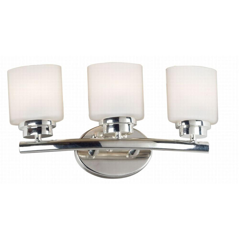 Vanity Lights Polished Nickel : Martha Stewart Living Seal Harbor Collection 3-Light Polished Nickel Plated Vanity Light ...