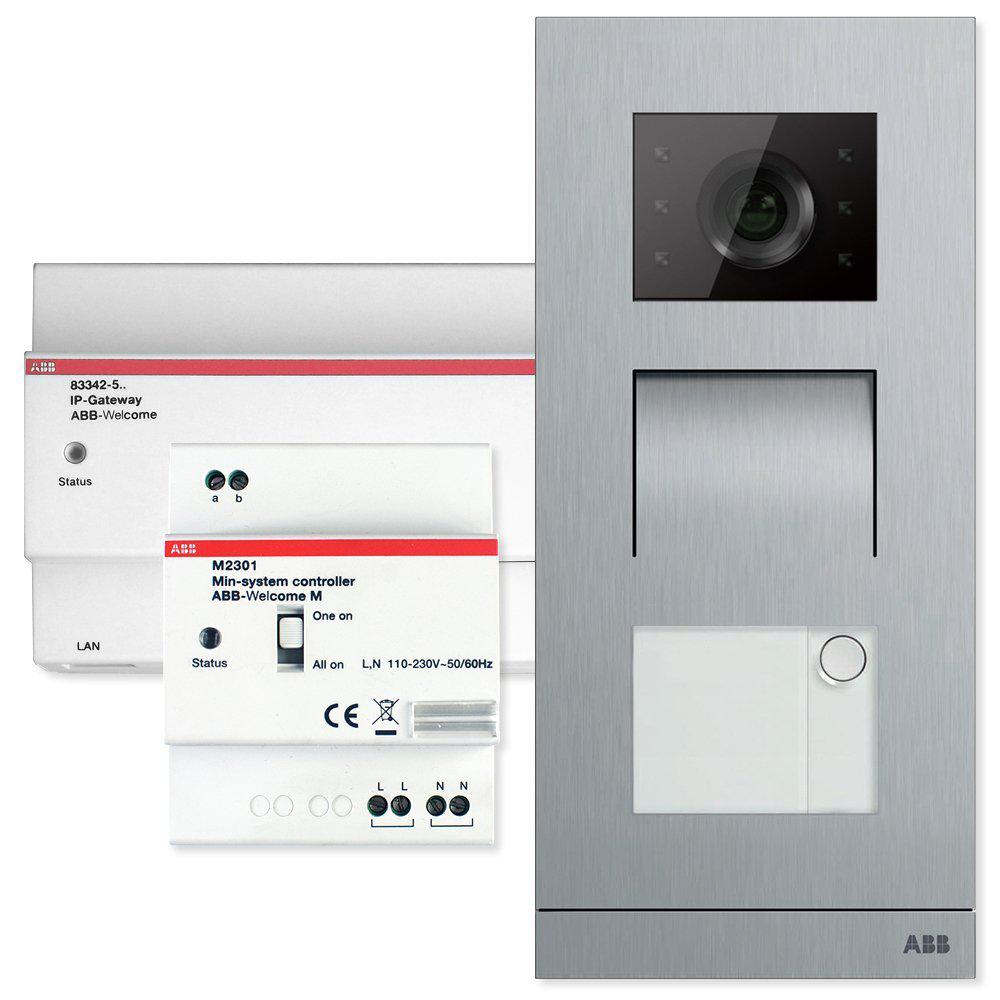 ABB Welcome Door Entry System Single Family Kit Configurable with Smart Phones and Tablets
