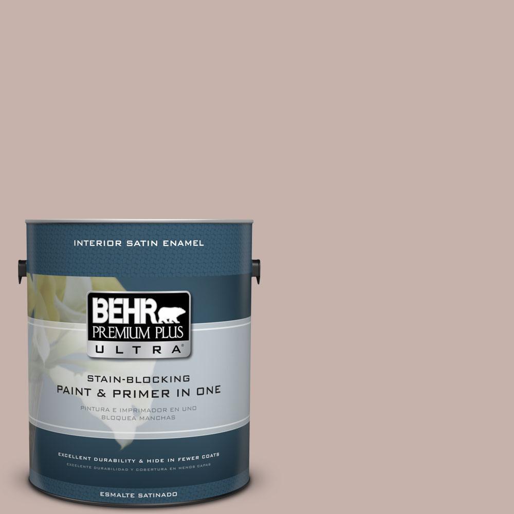 BEHR Premium Plus Ultra 1-Gal. #PPU17-10 Mauvette Satin Enamel Interior Paint