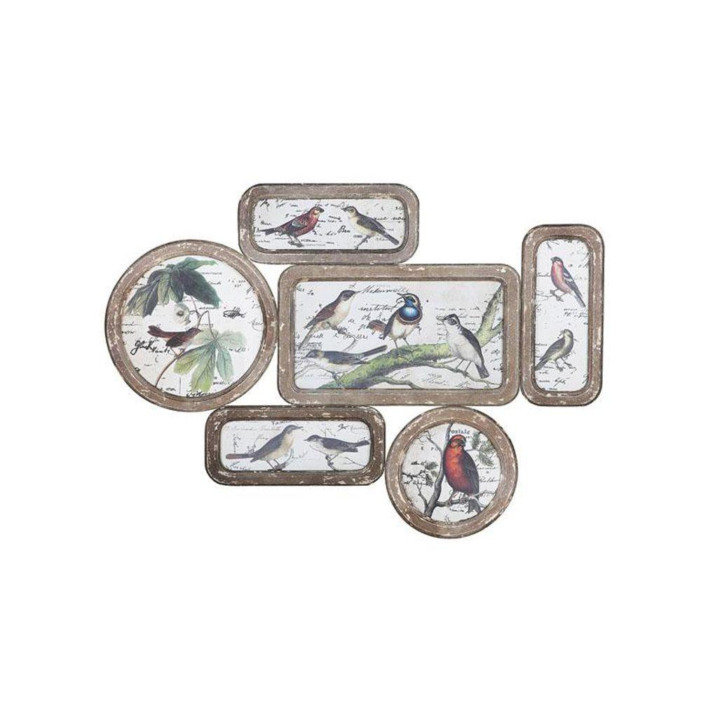 Home Decorators Collection 28 in. Wooden Multi W Bird Collage