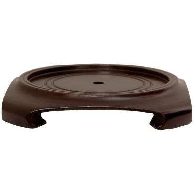 Rosewood 8.5 in. W Decorative Vase Stand