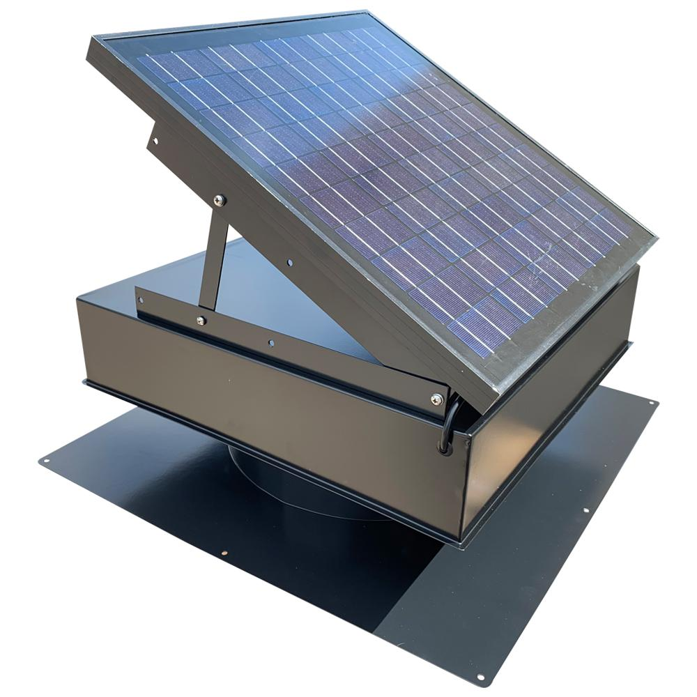 Solar Power Fan >> Remington Solar 25 Watt 1420 Cfm Gray Solar Powered Attic Fan