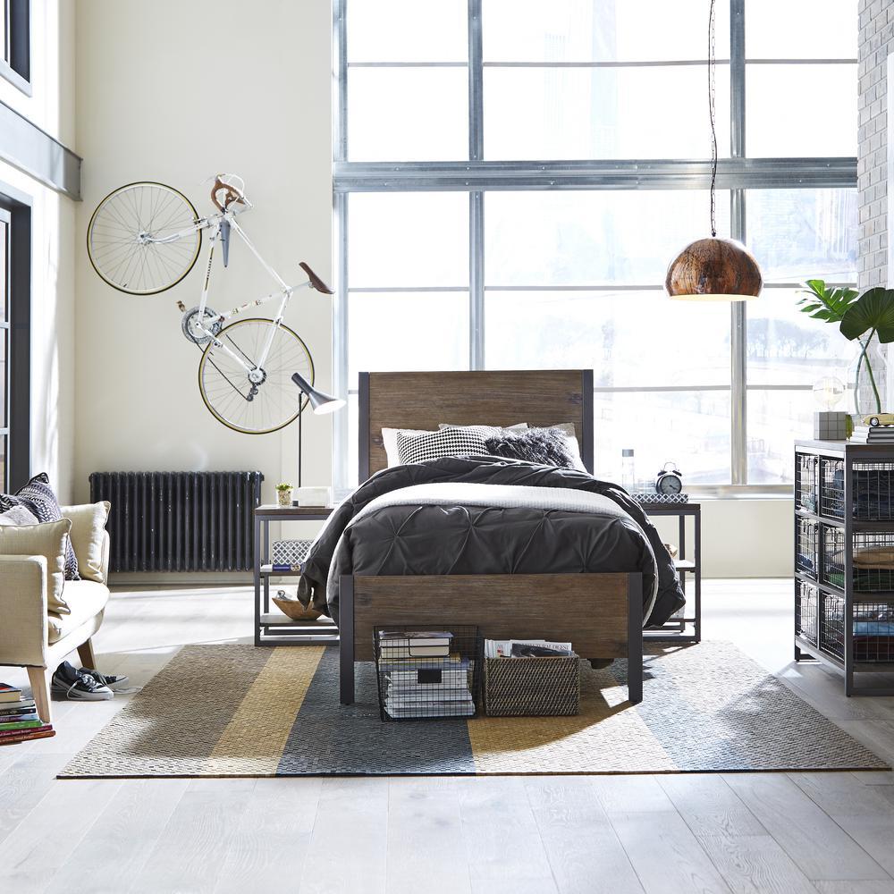 Home Styles Barnside Metro 4-Piece Driftwood King Bedroom Set 5053-6022