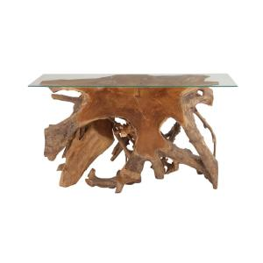 LITTON LANE 16-in Teak Wood Contemporary Console Desk Deals