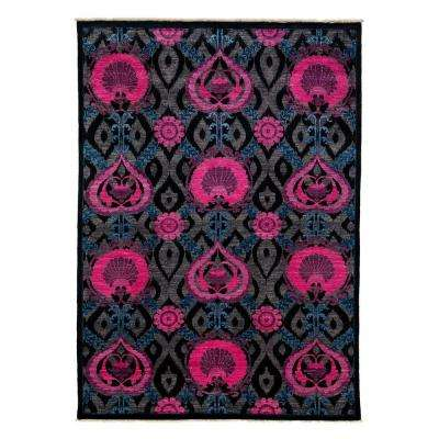 Arts Black 6 ft. x 8 ft. Indoor Area Rug