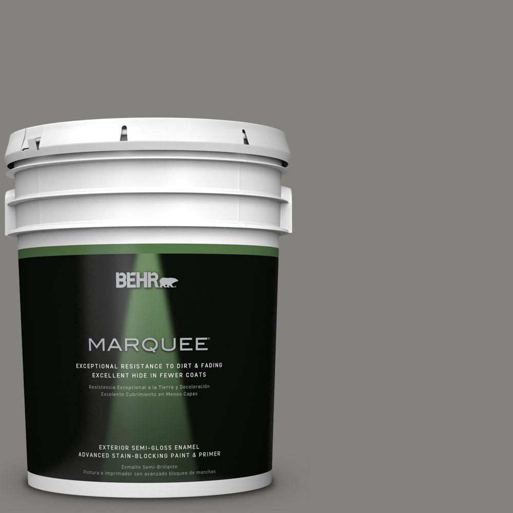 BEHR MARQUEE 5-gal. #BNC-25 Gray Pepper Semi-Gloss Enamel Exterior Paint