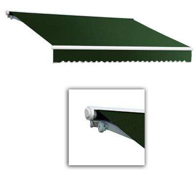 16 ft. Galveston Semi-Cassette Manual Retractable Awning (120 in. Projection) in Forest