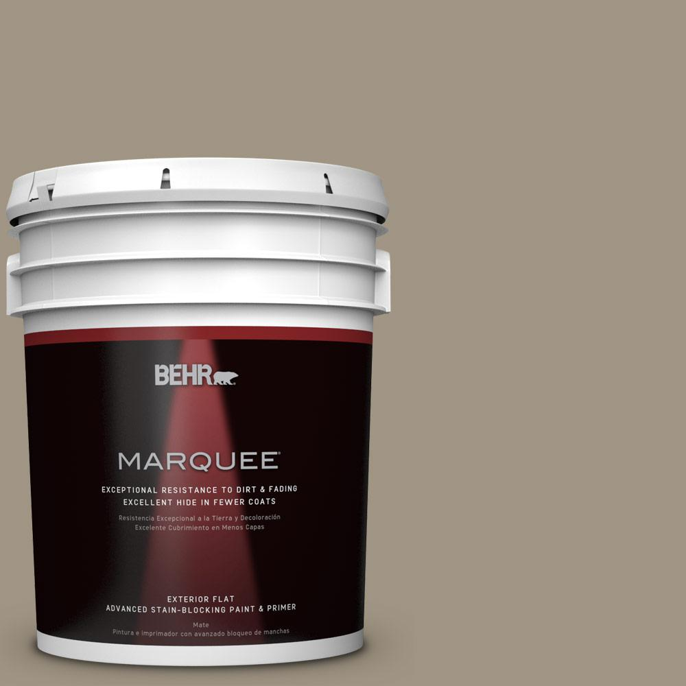 BEHR MARQUEE 5-gal. #BNC-24 Shadow Taupe Flat Exterior Paint