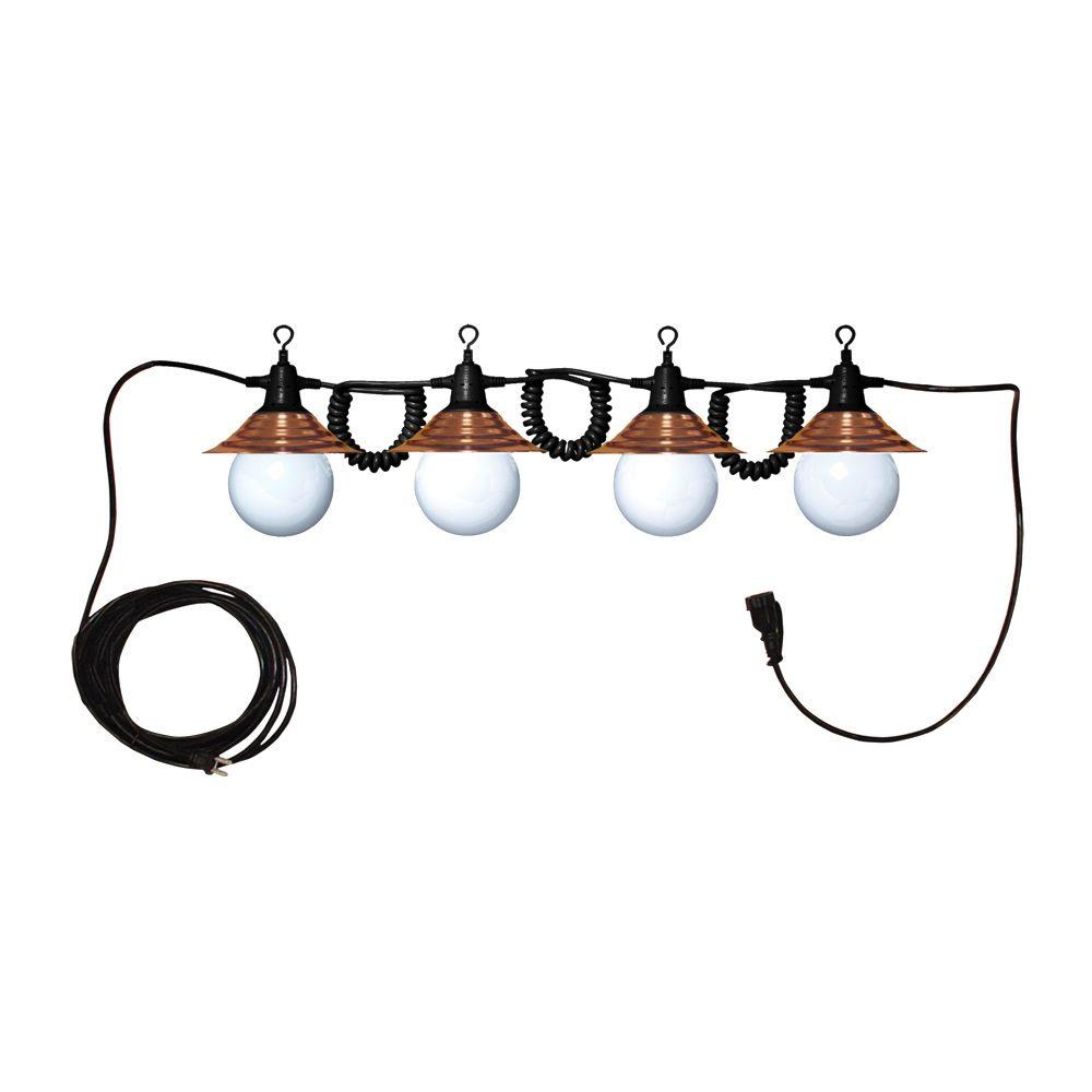Tasco 4 Globe Decorator Light String in Bronze Shade