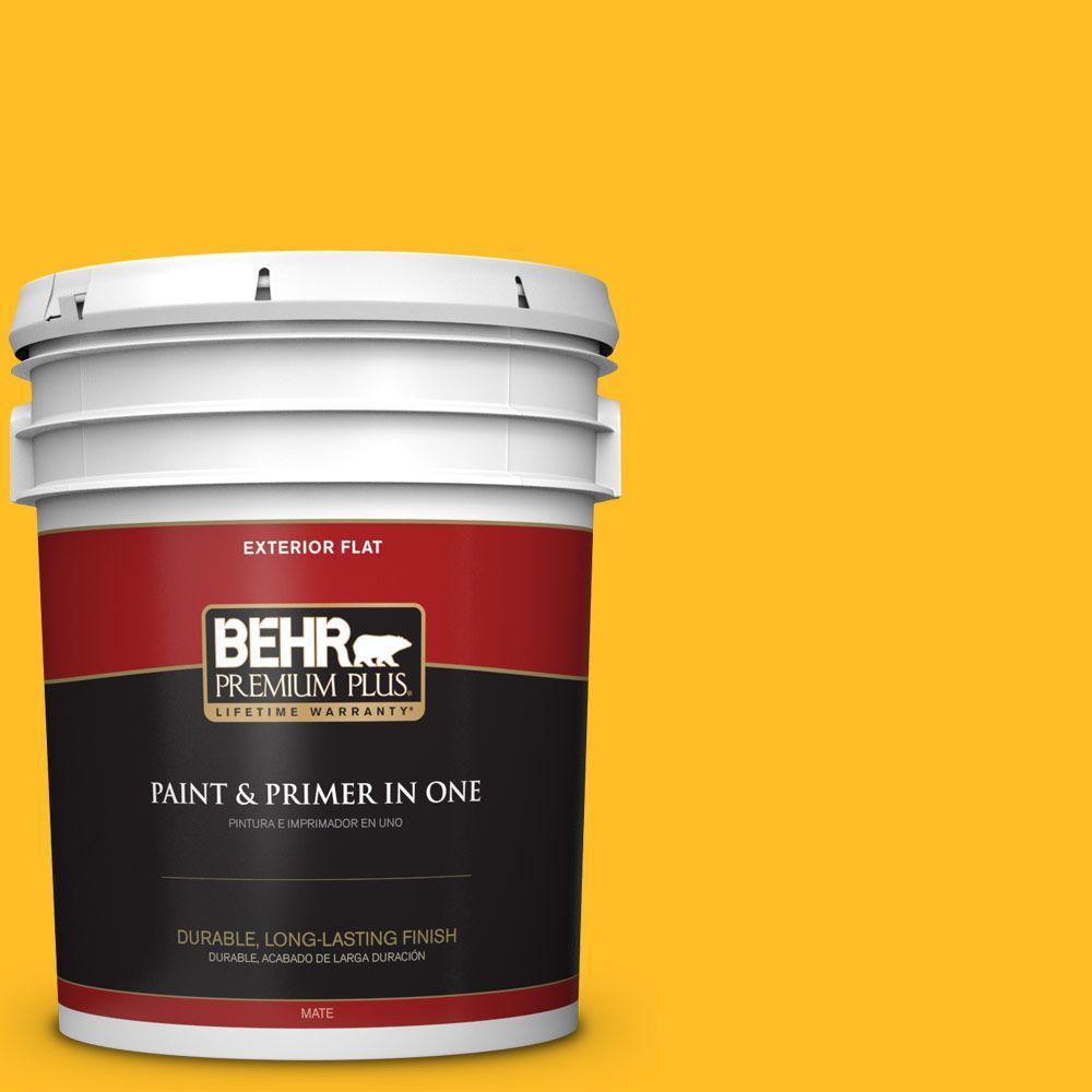 BEHR Premium Plus 5-gal. #320B-7 Macaw Flat Exterior Paint