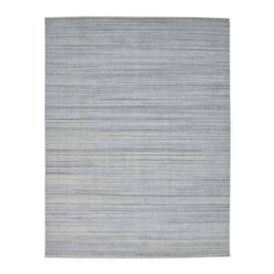 Solo Rugs Olivia Contemporary Stone 9 ft. x 12 ft. Loom Knotted Area Rug, Blue