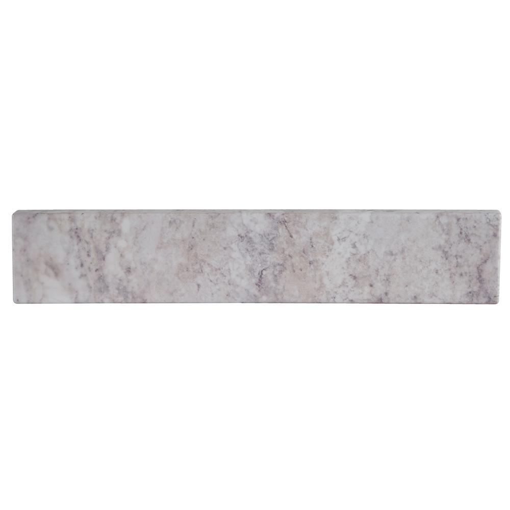 18 in. W Stone Effects Sidesplash in Winter Mist
