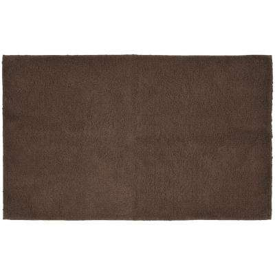 Queen Cotton Chocolate 30 in. x 50 in. Washable Bathroom Accent Rug