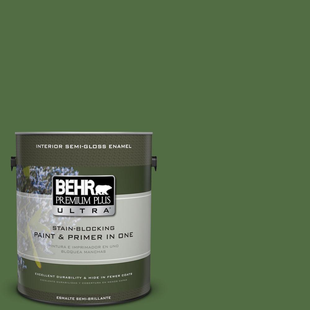 1-gal. #430D-7 Pacific Pine Semi-Gloss Enamel Interior Paint