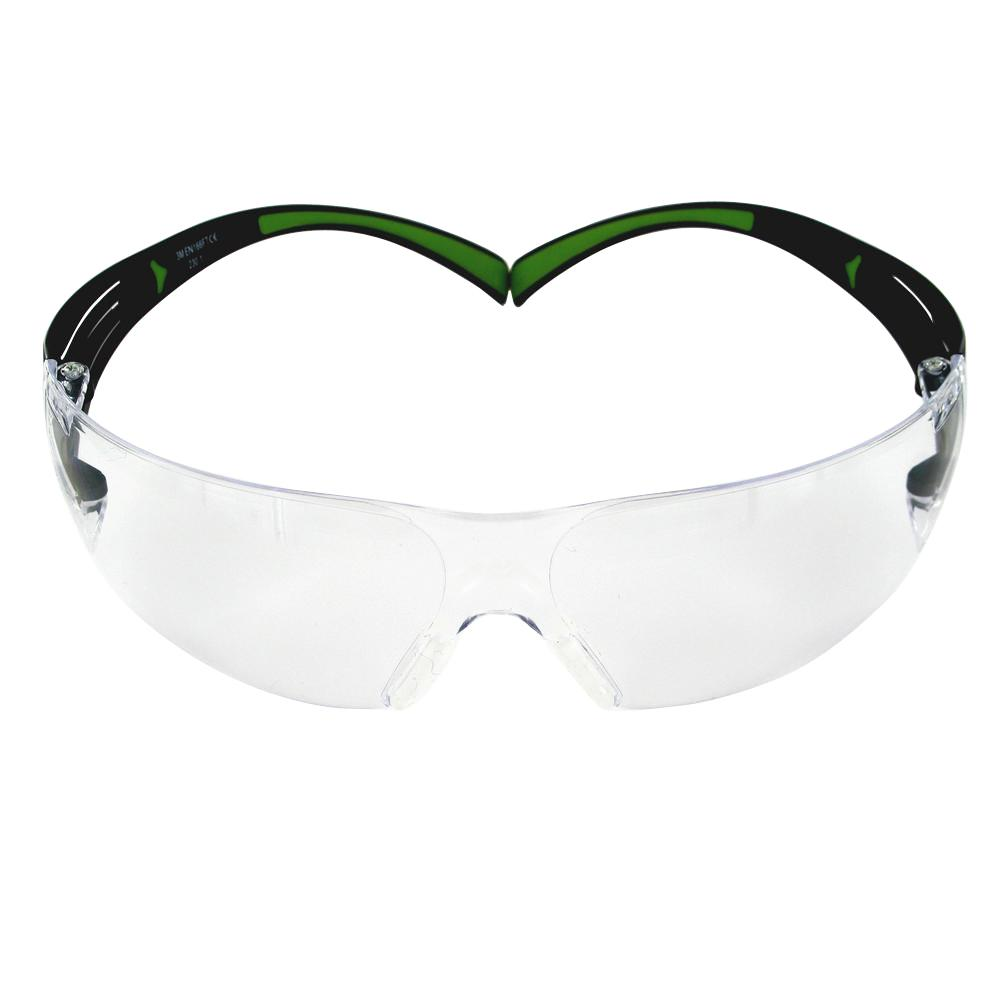 SecureFit 400 Series Black/Neon Green Frame with Anti-Fog Lens Safety Eyewear