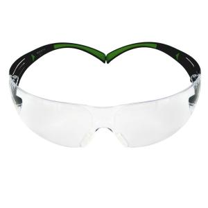 3M SecureFit 400 Series Black/Neon Green Frame with Anti-Fog Lens Safety Eyewear (3-Pack Multi-Shaded Lenses)... by 3M