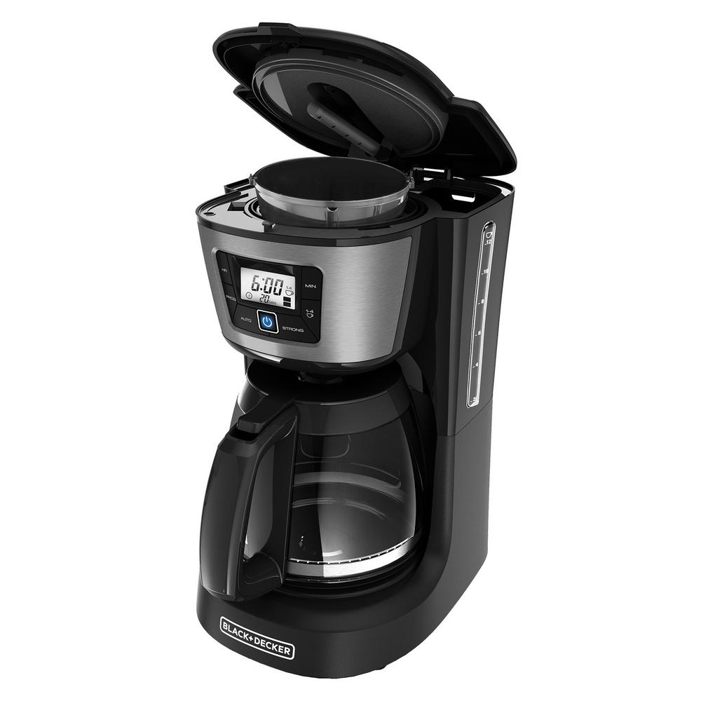 BLACKDECKER BLACK+DECKER 12-Cup Programmable Black Coffee Maker with Built-In Timer