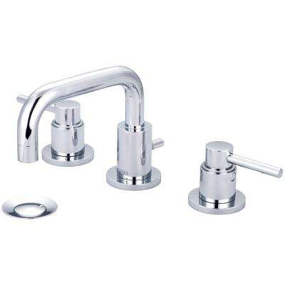 Motegi 8 in. Widespread 2-Handle Right Angle Spout Bathroom Faucet in Polished Chrome with Drain Assembly