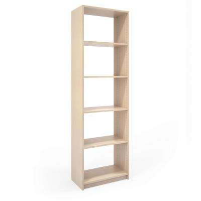 14 in. D x 24 in. W x 84 in. H Chai Latte Wood Shelving Closet System