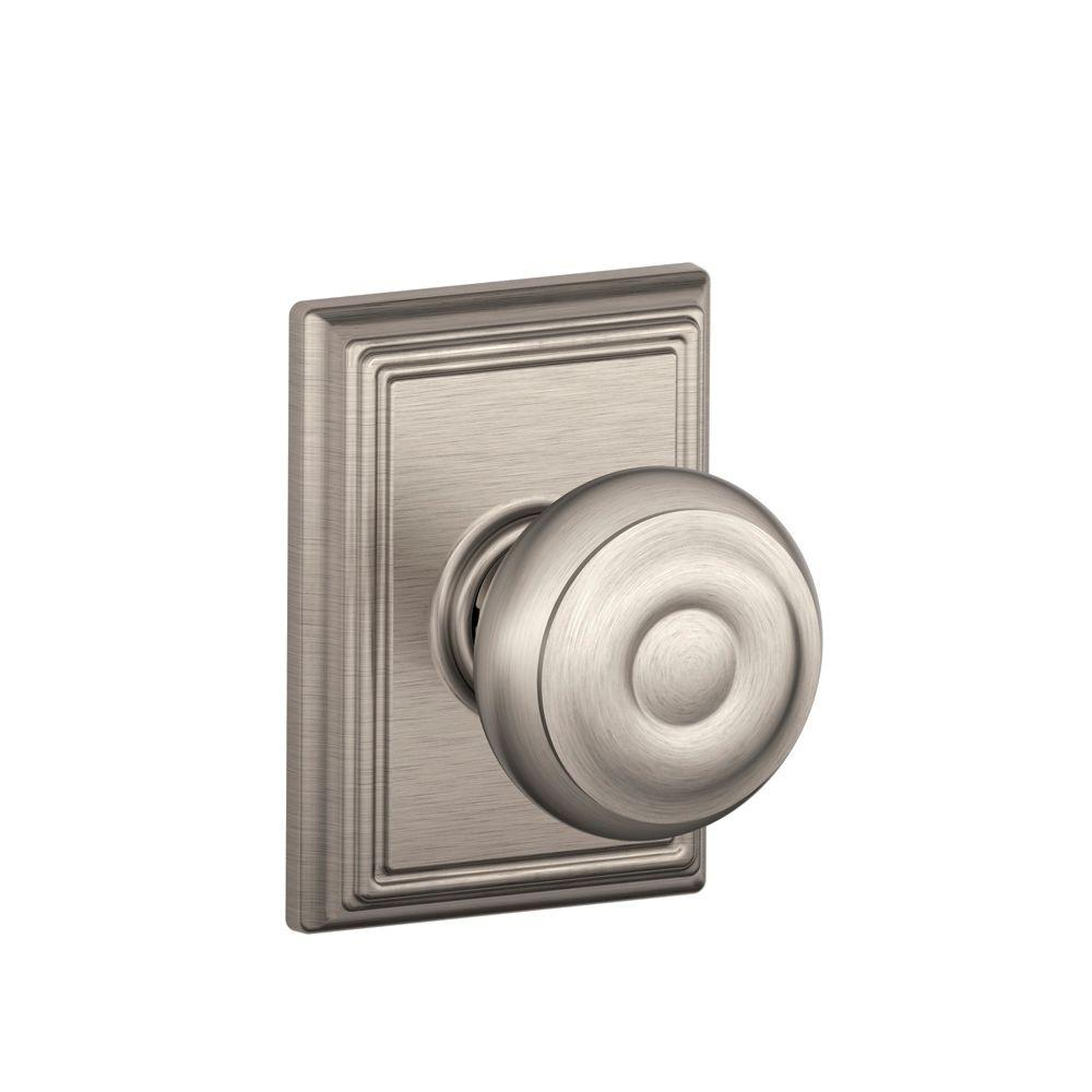 Superior Schlage Addison Collection Georgian Satin Nickel Hall And Closet Knob