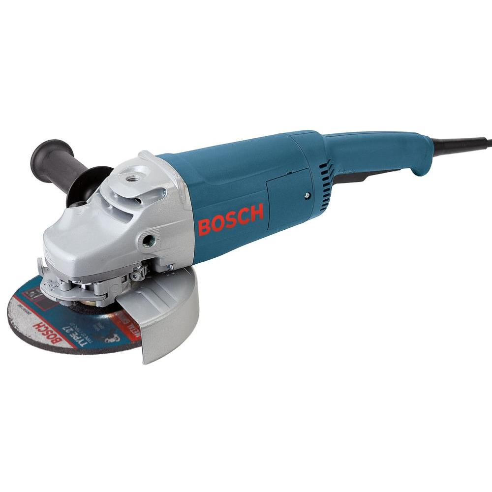 Bosch 15 Amp Corded 7 in. Large Angle Grinder with Rat Tail