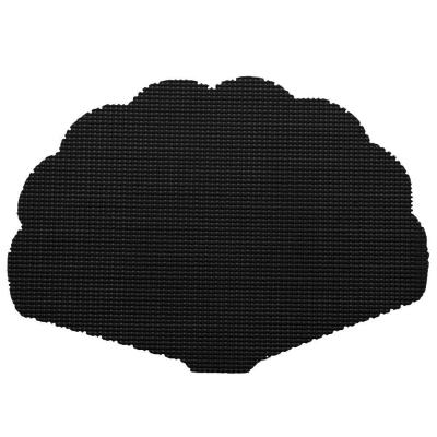 Fishnet Shell Placemat in Black (Set of 12)