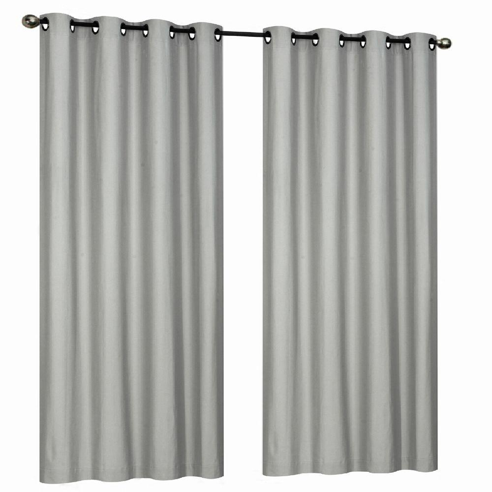 Home Decorators Collection Semi-Opaque Gray 290 GSM Curtain - 50 in. W x 84 in. L
