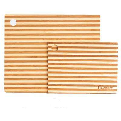 EarthChef 2-Piece Bamboo Cutting Board Set