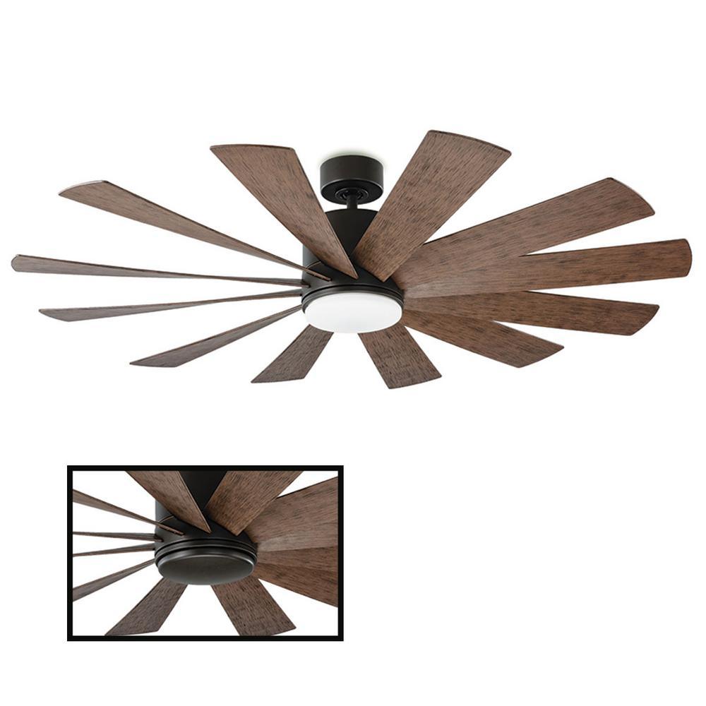 Windflower 60 in. LED Oil Rubbed Bronze Smart Ceiling Fan with Light Kit