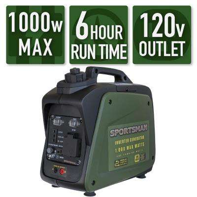 1,000-Watt/800-Watt Gasoline Powered Portable Inverter Generator with Parallel Connection
