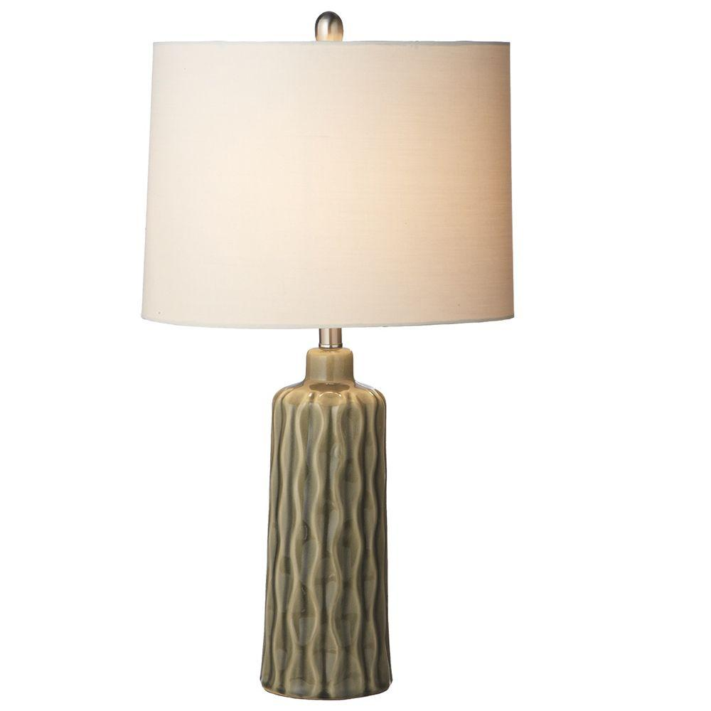 Filament Design Sundry 27 in. Grey Reactive Glaze Table Lamp-DISCONTINUED