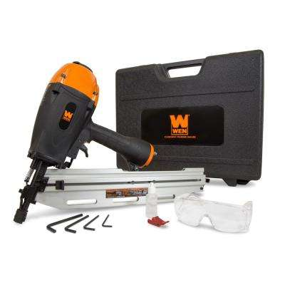 21-Degree Pneumatic Framing Nailer with Carrying Case