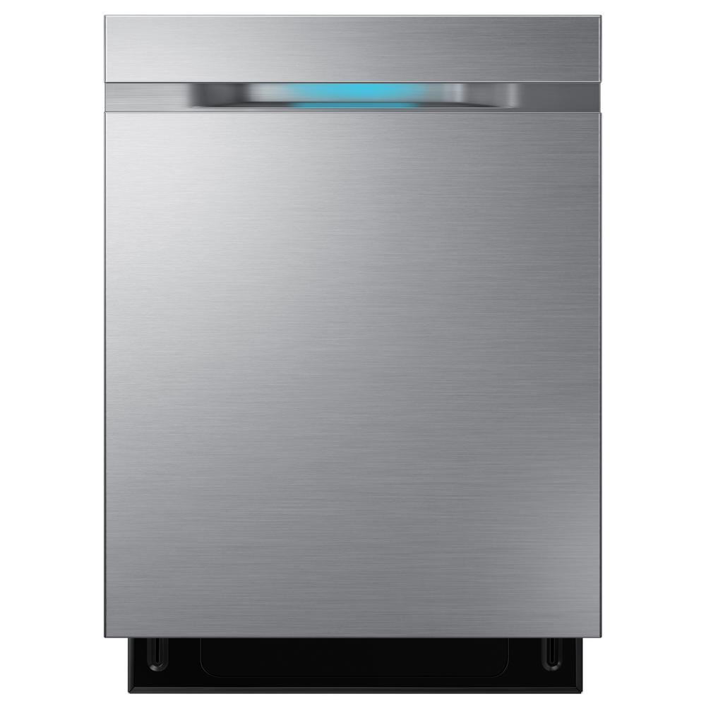Samsung Top Control Dishwasher in Stainless Steel with Stainless Steel Tub and WaterWall Wash System