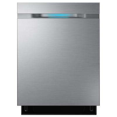 Samsung Top Control Dishwasher in Stainless Steel with Stainless Steel Tub and WaterWall Wash System by Samsung