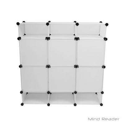 38.39 in. W x 38.39 in. H White Stackable 12-Cube Organizer