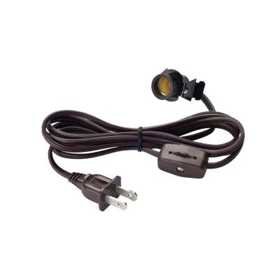 6 ft. Cord Set with Candelabra-Base Socket and Cord Switch