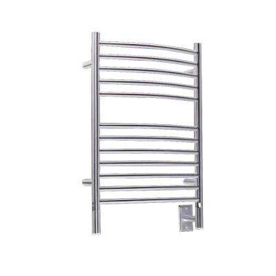 Jeeves E-Curved 20.5 in. W x 31 in. H 12-Bar Electric Towel Warmer in Brushed Stainless Steel