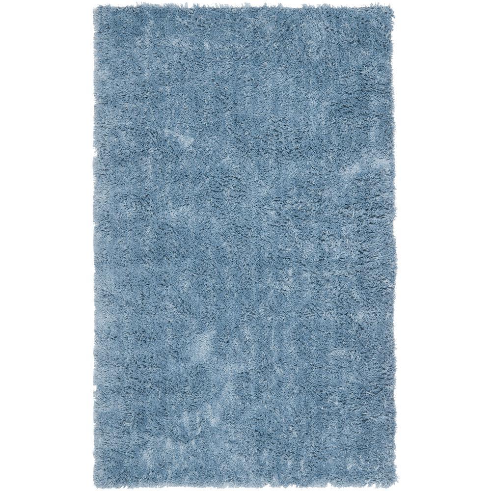 Classic Shag Ultra Light Blue 3 ft. x 5 ft. Area Rug