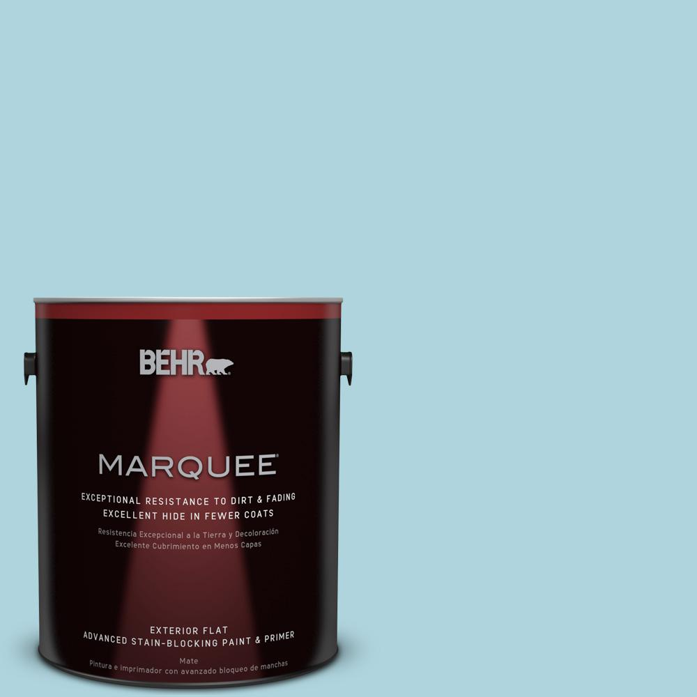 BEHR MARQUEE 1-gal. #520E-2 Tropical Breeze Flat Exterior Paint