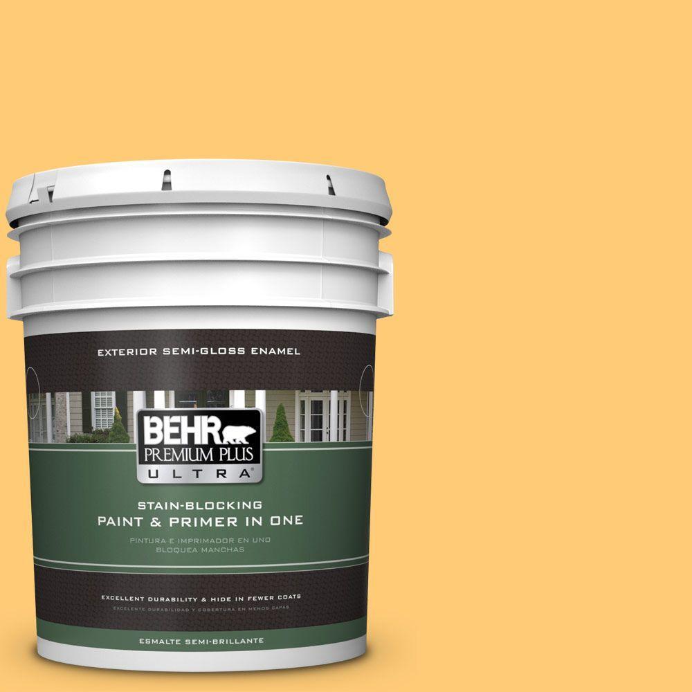 5-gal. #310B-5 Spiced Butternut Semi-Gloss Enamel Exterior Paint