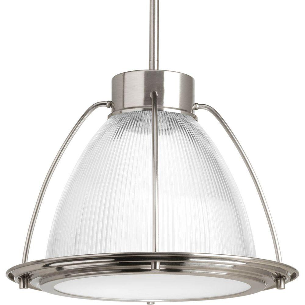Progress Lighting 1 Light Brushed Nickel LED Pendant With