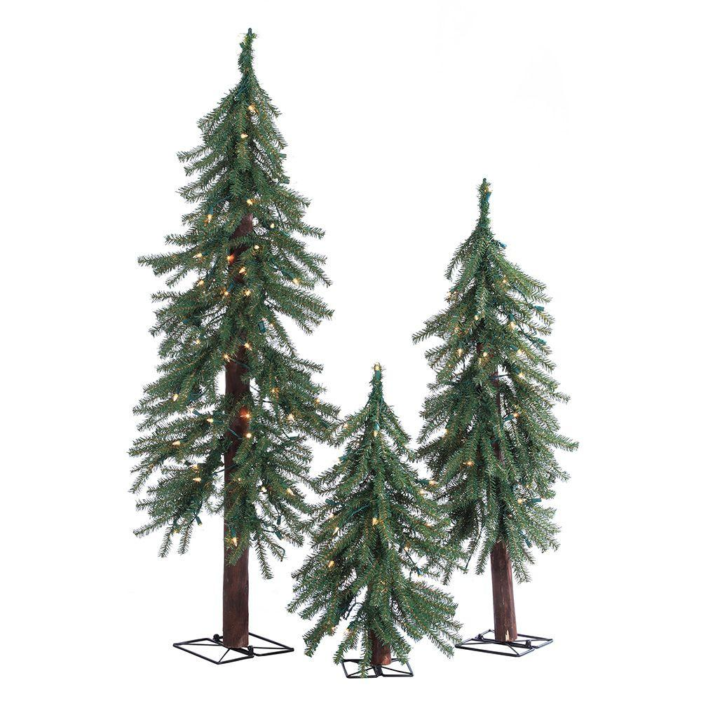 Sterling 2 ft., 3 ft. and 4 ft. Pre-Lit Alpine Artificial ...