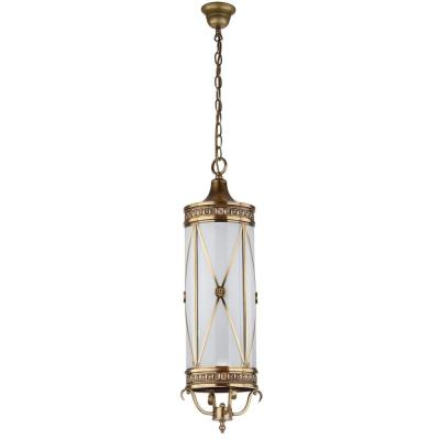 Darby 3-Light Brass Small Pendant with Off-White Shade