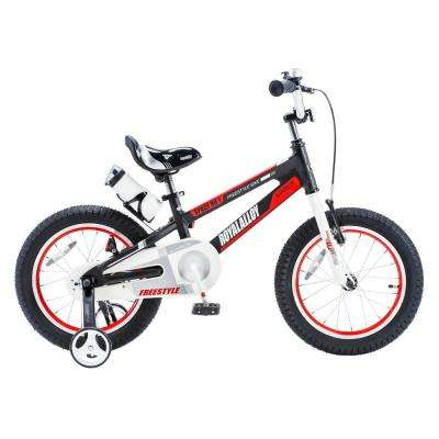 14 in. Wheels Space No. 1 Kid's Bike, Boy's Bikes and Girl's Bikes, Light Weight Aluminum with Training Wheels in Black
