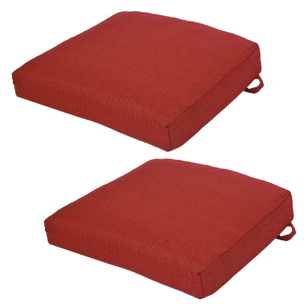 Chili Outdoor Seat Cushion (2-Pack)