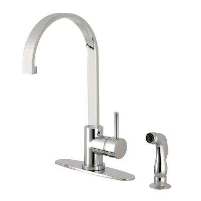 Concord Single-Handle Standard Kitchen Faucet with Side Sprayer in Chrome