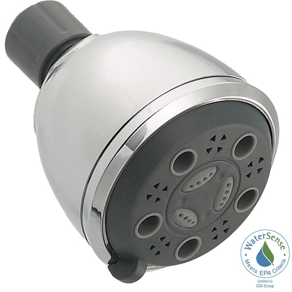 3-Spray 2.94 in. Fixed Shower Head in Chrome