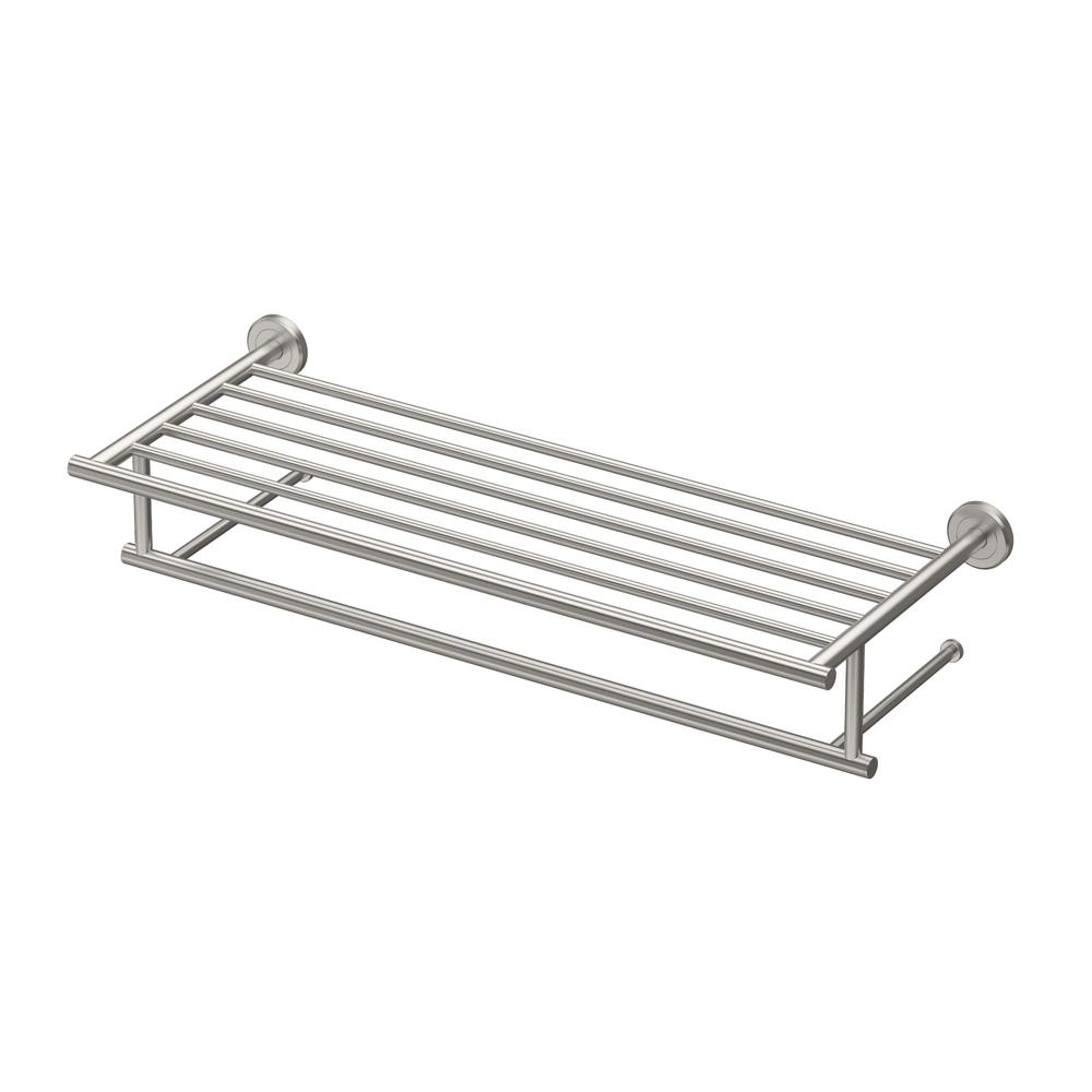 Gatco Latitude Ii 24 In Towel Rack In Satin Nickel 4297 The